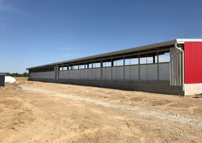 Installation of Curtains on New Steer Barn