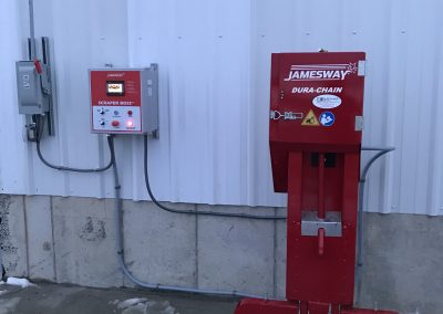Installation of Jamesway Dura-Chain Alley Scraper in a 220 Foot Long Barn